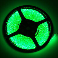 Green 5M Waterproof 300 LED 3528 SMD Flexible LED Light Lamp Strip DC 12V Auto