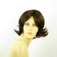 short wig for women smooth chocolate copper wick ref LISA 6h30 PERUK