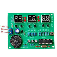 Electronic 4Digital Clock DIY Kit LED with ShellVoice 51 Single-Chip Tube Parts