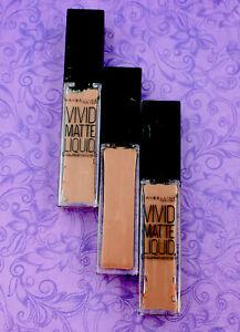 3x Maybelline Vivid Matte Liquid Lip Gloss #02 Grey Envy, 0.26 oz Each