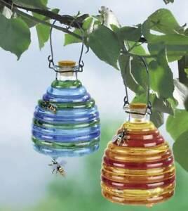 Wenko Wespenfalle aus Glas, farbig, 2 Stück