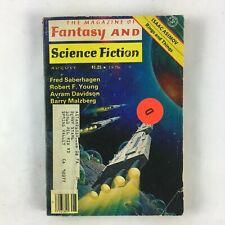 August Fantasy & Science Fiction Magazine Fred Saberhagen Robert F.Young Avram