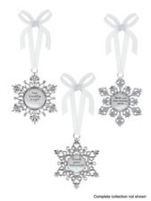 Ganz Heavenly Snowflake Ornaments, Choose Your Style (EX25030)
