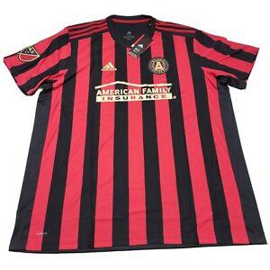 Adidas Men's 2XL Red Black MLS Atlanta United FC Soccer Jersey NWT