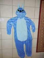 Disney's Stitch Adult Halloween Costume Hooded Pajama Pockets Button Medium Lilo