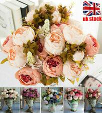 13 Heads Artificial Silk Peony Flowers Bouquet Home Wedding Garden Party HOT