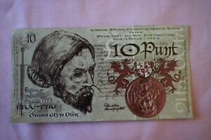 Wales Welsh Ten 10 Punt Banknotey type thingy. Watch paint dry or collect these?