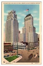 Lefcourt Building and National Newark & Essex Banking Co. Newark, NJ Postcard