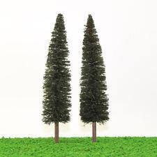 S0401 3PCS 9.84''/25cm Christmas Home Decor Model Pine Trees 1:50 O Scale NEW