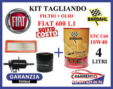 KIT TAGLIANDO OLIO BARDAHL 10W40 + FILTRI FIAT 600 SEICENTO 1.1 --->09/2000
