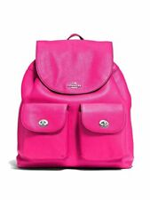 Coach F37410 Billie Backpack in Pebble Leather Silver/bright Fuchsia