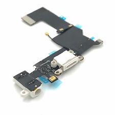 Ladebuchse iPhone 5S Dock Connector Flex Kabel Audio Jack Mikrofon Antenne Weiß