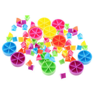 Pack of 84 Pieces Trivial Pursuit Game Pieces Pie Wedges for Math Fractions