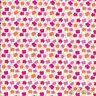 Ivory / Coral Floral Fabrics 100% Cotton Material - Fat Quarter bundle, metre