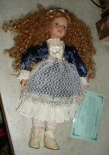 MINT Duck House Heirloom Porcelain Doll ALLISON Blonde Hair Blue Eyes Girl 18""