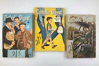 Catholic Digest Lot of 3 Vintage 1959 Religious Religion Magazines U557