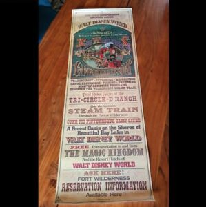 Disney Fort Wilderness Resort & Campground 46″ Theme Park Used Prop Poster Sign
