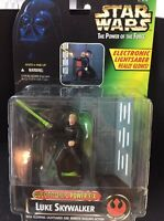 1997 Star Wars POTF Luke Skywalker Electronic Power F/X w/Glowing Lightsaber