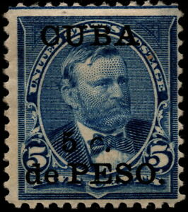 US Possessions West Indies - 1899 - 5c on 5 Cents Blue Surcharged Issue 225 Mint