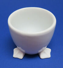 Pure White Porcelain Baby Chick / Duck Feet Egg Cup ~ Easter ~ Mint