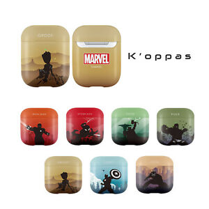 Official Disney Marvel Silhouette Solid AirPods Case Cover 100% Authentic
