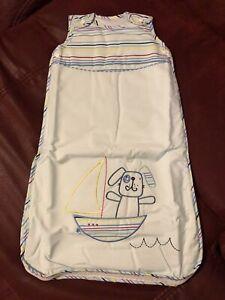 Lollipop lane sleeping bag baby blue dog in boat 0-6 months 2.5 tog