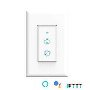 Used Smart WIFI Light Switch  3-Way or Single Pole Remote Alexa Google Home