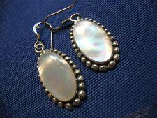 Sterling Silver Mop Earrings Native American Estate 925