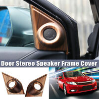 For Honda CRV CR V 2017 2018 Peach Wood Grain Door Stereo Speaker Fram