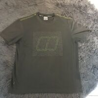 Berghaus Spell Out Graphic Print Argentium Olive Khaki Green Tshirt Tee Large L