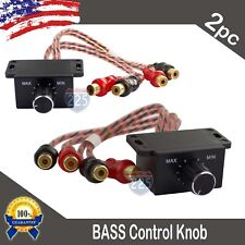 2) Universal Car Audio Amplifier Bass Boost RCA Level Remote Volume Control Knob
