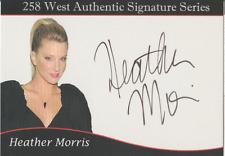 Heather Morris 258 West Authentic autograph auto card /500