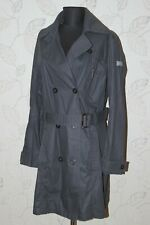 FRIEDA & FREDDIES New York womens black trench coat jacket Size 46