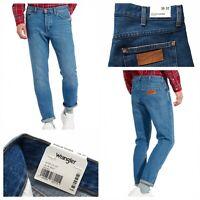 WRANGLER Slider Regular Tapered Blue Beat Denim Jeans Size 30 / 32 NEW RRP £85