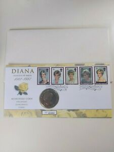 Diana Princess of Wales Memorial Coin Cover/Stamps ~ Royal Mint -  RARE
