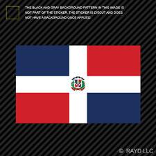 "4"" Dominican Flag Sticker Decal Self Adhesive Vinyl Dominican Republic caribbean"