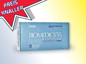1x6er Box Biomedics 55 UV Evolution Monatslinse mit UV Schutz
