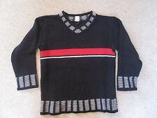 Hess Natur * Pullover *schwarz * Strick *116 KbA Baumwolle * weich * TOP Zustand