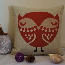 Vintage Cotton Linen Cushion Cover Home Decor Owl Hoot