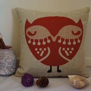 Cotton Linen Cushion Cover Home Decor Owl Hoot