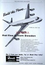 1960 REVELL Model Airplane Kit ADVERT H-188 'S.A.S DC-8' - Original Print AD