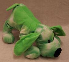 Plush Puppy Dog Lime Green Tie Dye