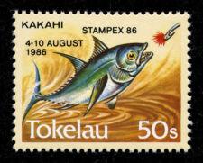 Tokelau 1986 STAMPEX Overprinted Stamp Scott # 110  - SG # 114a