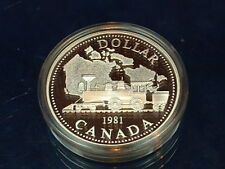 CANADA  1981  ****  PROOF CAMEO  SILVER DOLLAR   ****