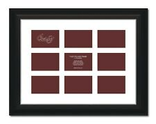 "Craig Frames 17x23 2"" Black Picture Frame, White Mat, Openings for 9 4x6 Images"