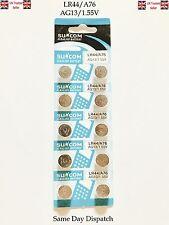 10X AG13 LR44 SR44 L1154 357 A76 ALKALINE BUTTON COIN CELLS BATTERIES SUNCOM UK