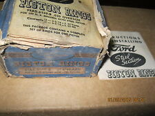 1932 1933 1934 1935 1936 - 1952 Ford NOS Piston Rings 100 H/P Flathead .060