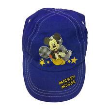 TOPOLINO MICKEY MOUSE cappello con visiera in cotone blu elettrico regolabile