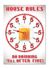 Pas de boire Till After Five-A4 drôle, Blague, bar, Maison Vinyle Autocollant