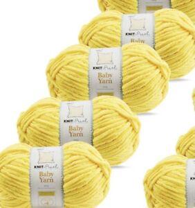 SO CRAFTY BABY YARN sunshine 4 X 100g PACK 400g aldi chenille wool
